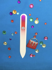 Pomegranate Medium Glass Nail File