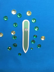 Sheer Glass Nail File Collection - I Mint To Say That - Small Glass Nail File