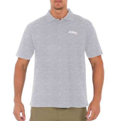 JETPILOT MENS FUELED POLO SHIRT ICE MARLE