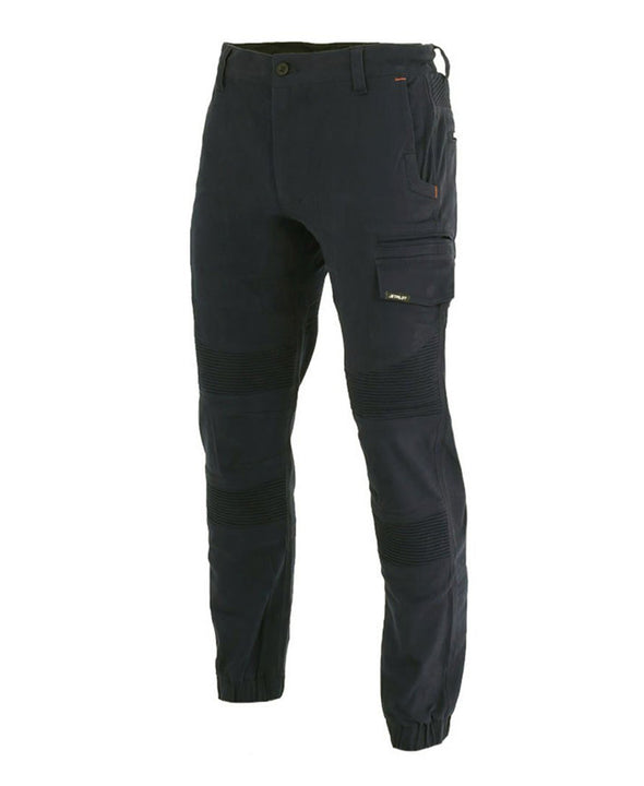 BLK FUELED CORRUGATED STRETCH PANT
