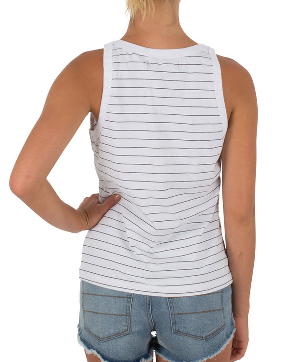 JETPILOT STUNNER LADIES TANK WHITE