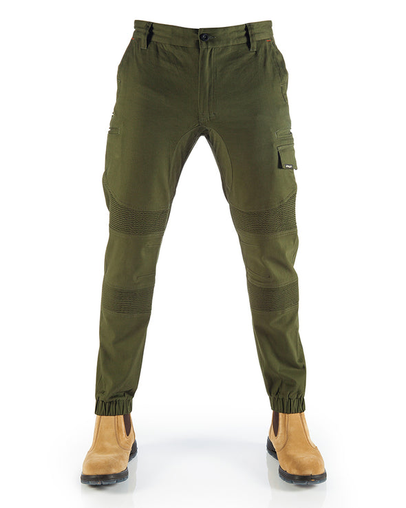 OLIVE FUELED CORRUGATED STRETCH PANT