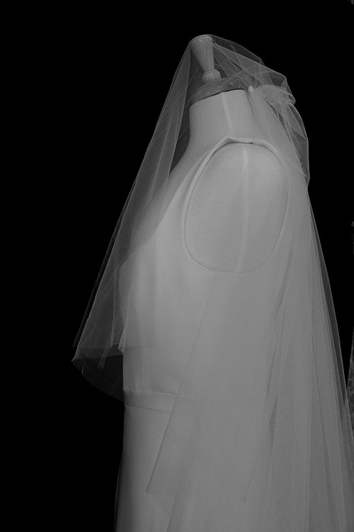 Liz Martinez | Cathedral Veil with Blusher