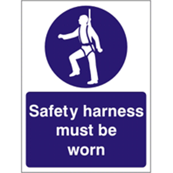Harness Must be Worn Sign