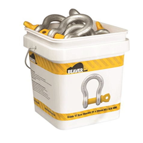 30xGrade S Bow Shackle 1.0 Tonne