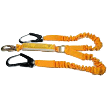 Energy Absorbing Elasticised Webbing Lanyard