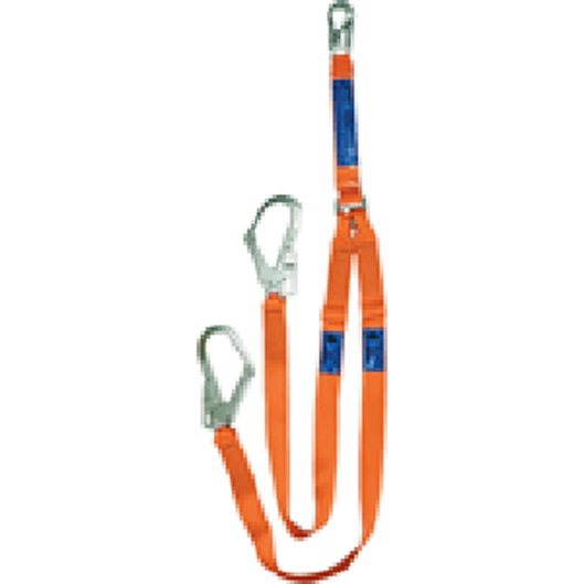 Ergo Twin Adjustable Lanyard - H3 Steel Scaffold Hook