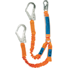 Ergo Twin Elasticised Lanyard - Scaffold Hook