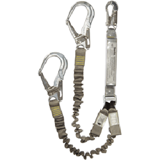 Ergo Plus Twin Elasticised Lanyard - Scaffold Hook