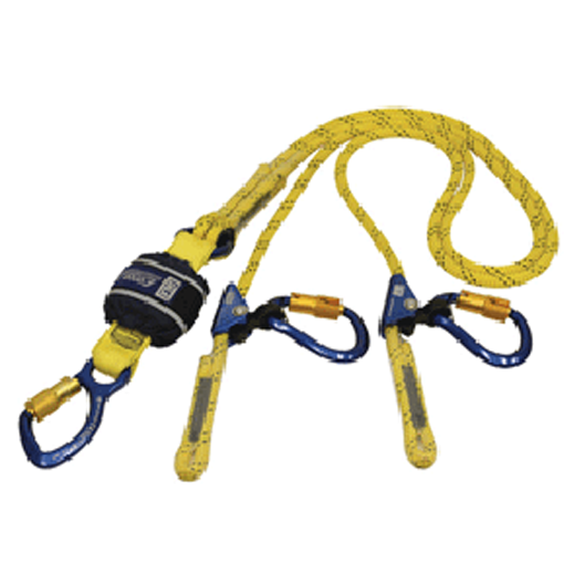 Force2 Twin Adj Rope Lanyard - Karabiners