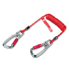 Tool Coil Lanyard with swivel karaniers