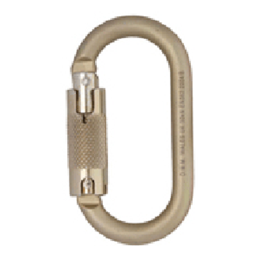 Steel Oval Locksafe Karabiner