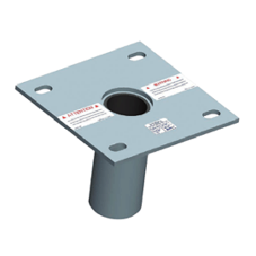 XTIRPA Zinc plated floor flush adaptor plate