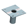 XTIRPA 316 stainless steel floor flush adaptor plate