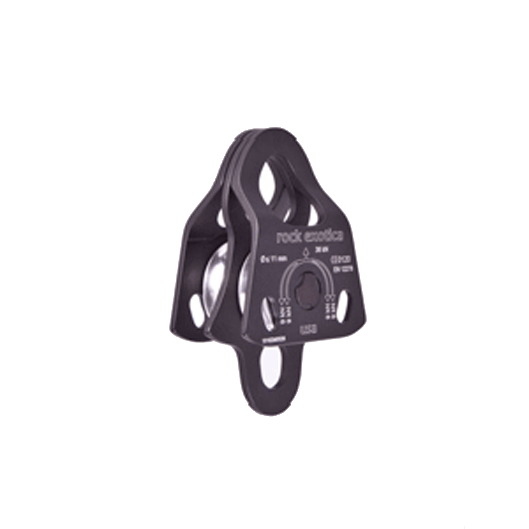 Mini Double Machine Pulley Black P21D-B