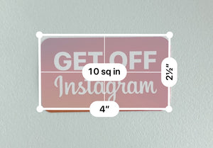 GET OFF Instagram sticker (Rounded rectangle)