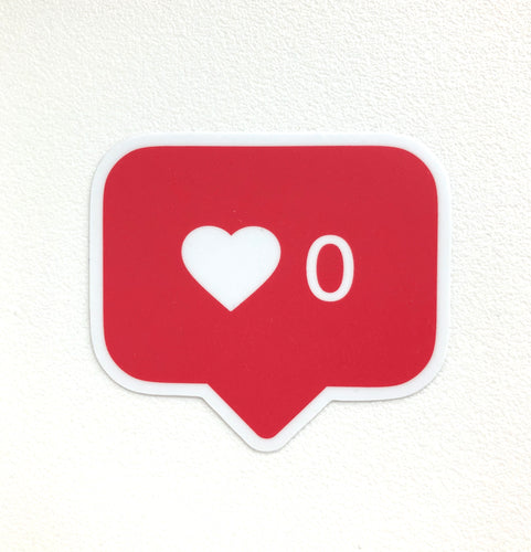No likes notification sticker (Die cut)