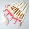 11 Pc Unicorn Makeup Brush Set