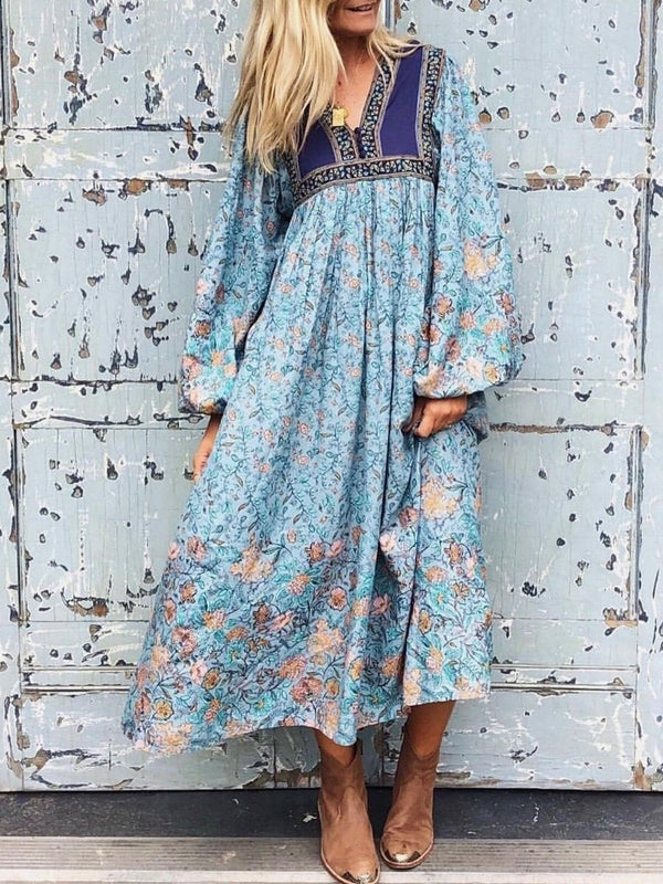 V Neck Women Dresses Holiday Boho Dresses