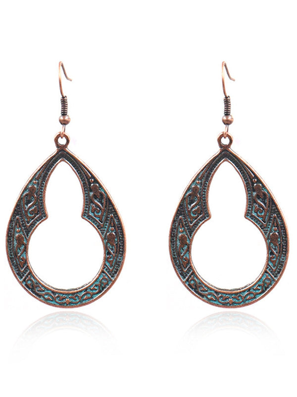 Womens Alloy Hollow out Drop Earrings