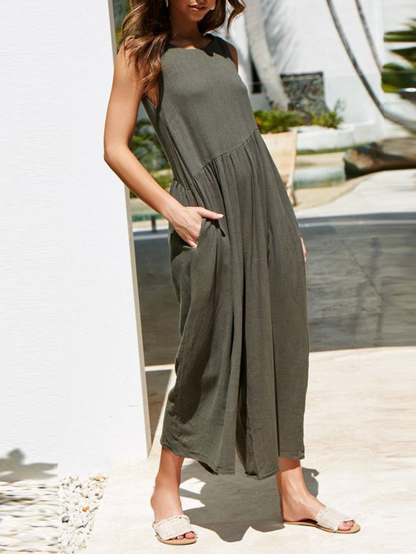 Sexy Backless Loose Wide Leg Jumpsuits