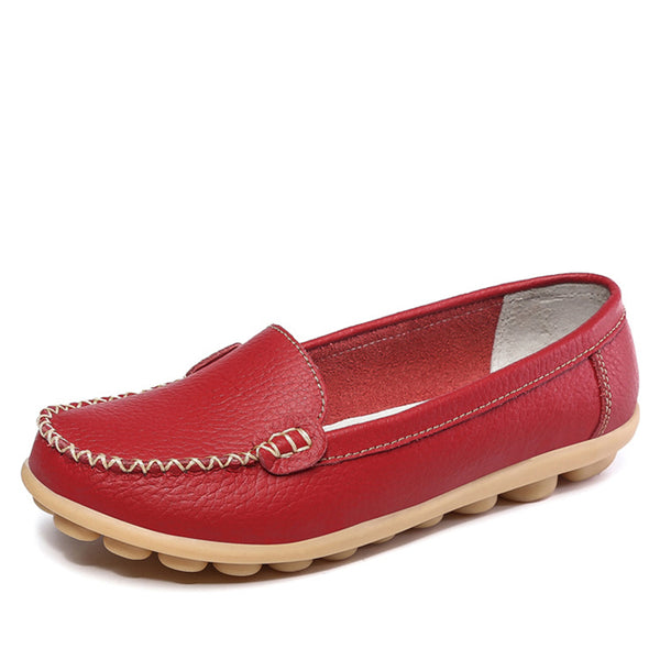 Large Size Skid-proof Shoes Women Slip-On Soft Loafers
