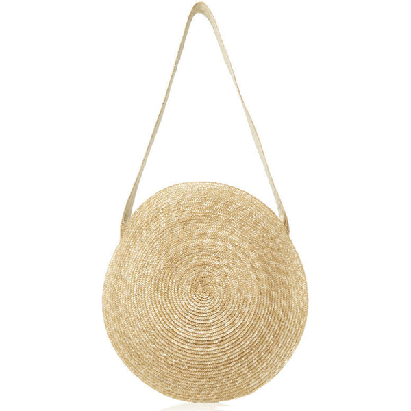 Rattan Nation - Handwoven Round Rattan Straw Bag