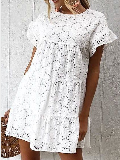 White Casual Elegant Women Dresses