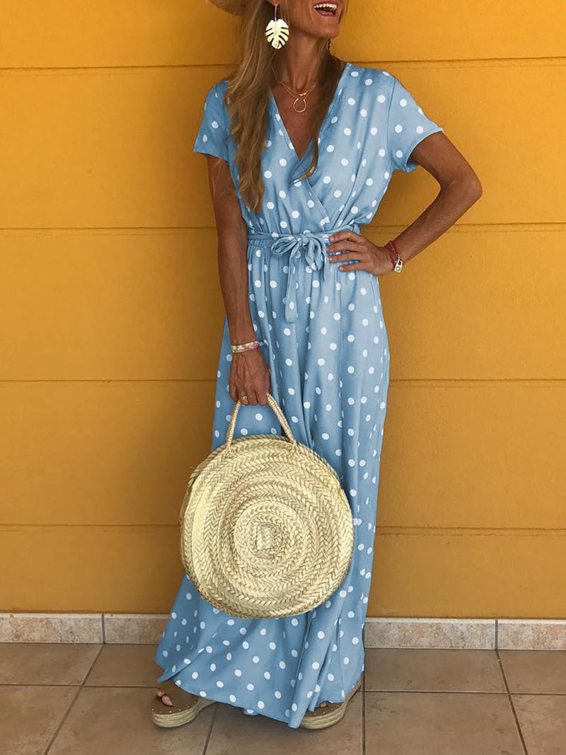 Cotton Sweet Short Sleeve Vacation Dresses