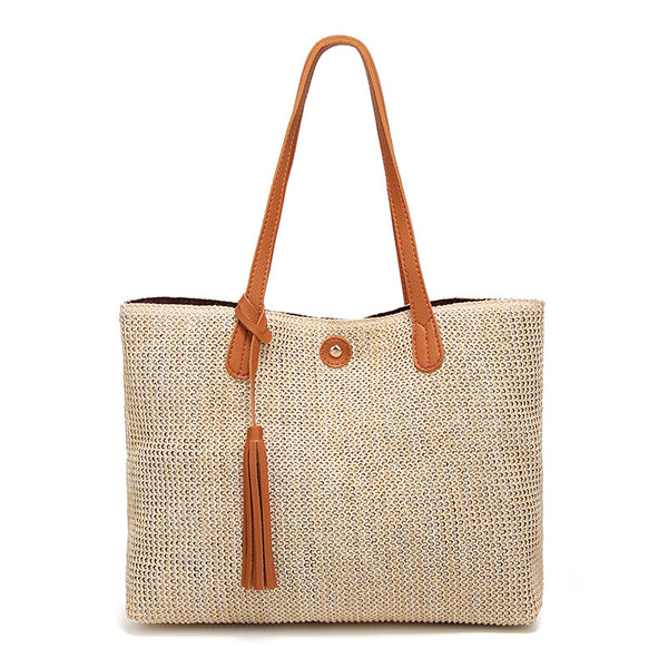 Women's Summer Casual Beach Woven Shoulder Bags