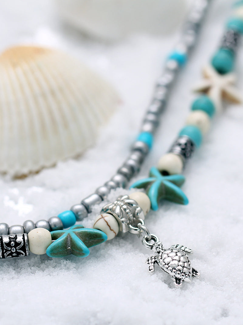 Pretty Shell Star Beach Multi-layer Water Footchain Accessories