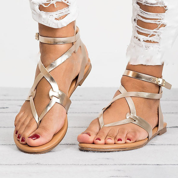 Daily Hollow-out Gladiator Buckle Sandals