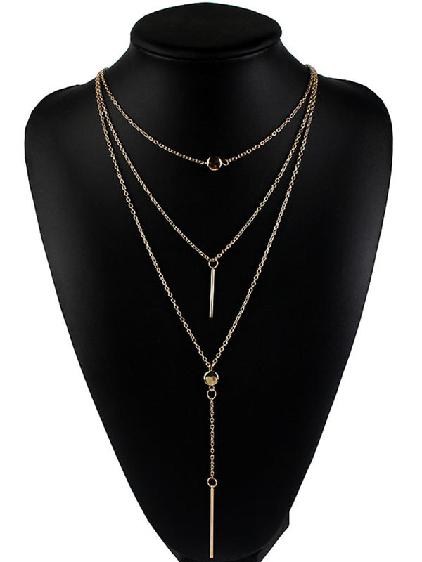 Womens Alloy Drop Sweater Necklaces