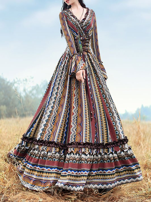 Long Sleeve Vintage Dresses