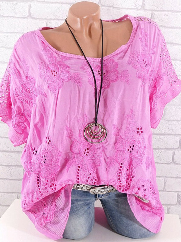 Size S-5XL Floral Batwing Casual Blouses