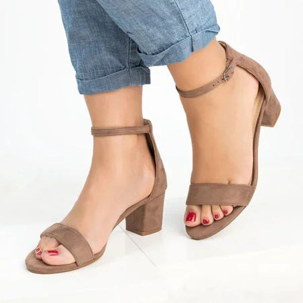 Chunky Heel Simple Casual Sandals