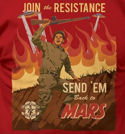 Join the Resistance Send 'Em Back to Mars T-Shirt - Five Dollar Tee Shirts