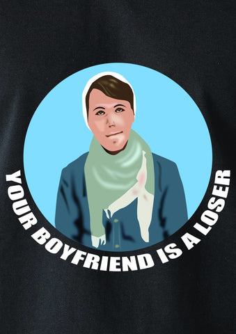 Your Boyfriend is a Loser Circle T-Shirt - Five Dollar Tee Shirts