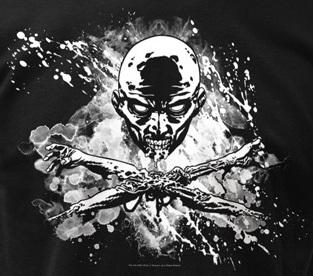 Zombie Skull and Bones T-Shirt - Five Dollar Tee Shirts