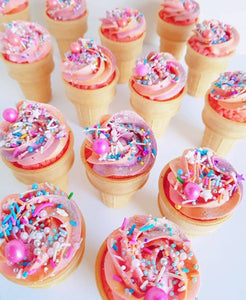 +custom ice cream cone cupcakes - Alchemy Bake Lab