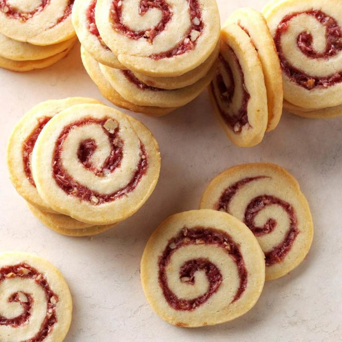 +raspberry walnut pinwheel cookies - Alchemy Bake Lab