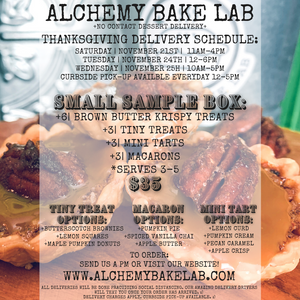 THANKSGIVING TREAT SAMPLER: SMALL - Alchemy Bake Lab