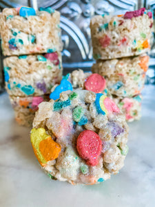 BROWN BUTTER LUCKY CHARMS KRISPY TREATS - Alchemy Bake Lab