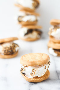 +toasted marshmallow cookie sandwiches - Alchemy Bake Lab
