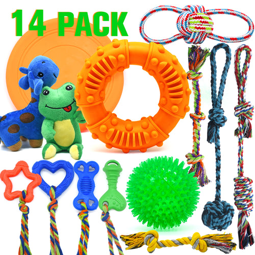 14 Pack Dog Chew Toys - VITSCAN
