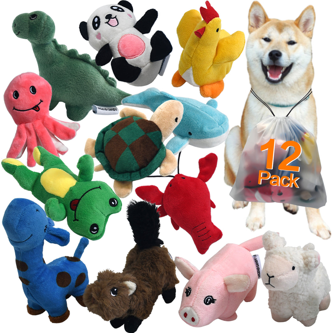 12 pack  Cute Soft Pet Toy LEGEND SANDY - VITSCAN