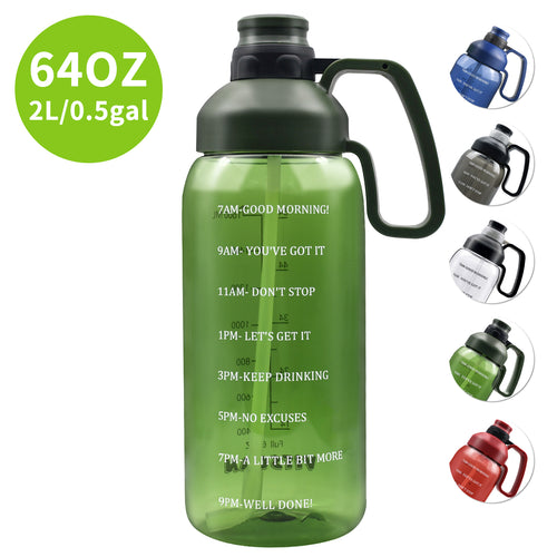 Motivational 64 OZ Water Bottle - VITSCAN