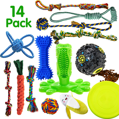 14 Pack Dog Rope Toys SHARLOVY - VITSCAN