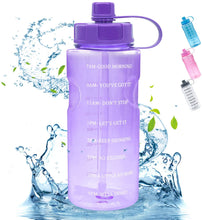Load image into Gallery viewer, 64 OZ Water Bottle with Straw Time Marker - VITSCAN