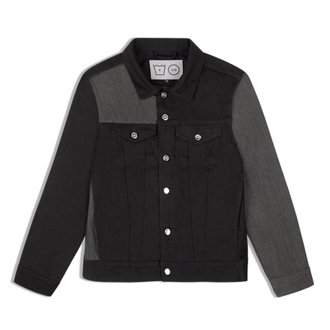 Panelled Logo Denim Jacket